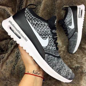 Nike Air Max Thea Ultra Flyknit Women's Oreo shoes NWT